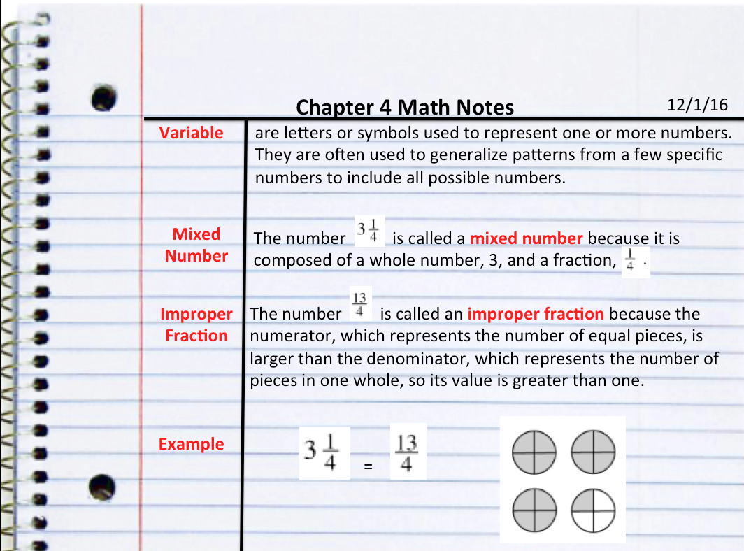 Chapter 4: Variables & Ratios - Ms. Rosas\' Website